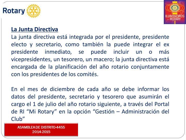 La Junta Directiva