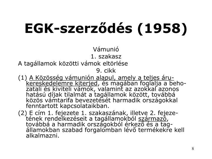 EGK-szerződés (1958)