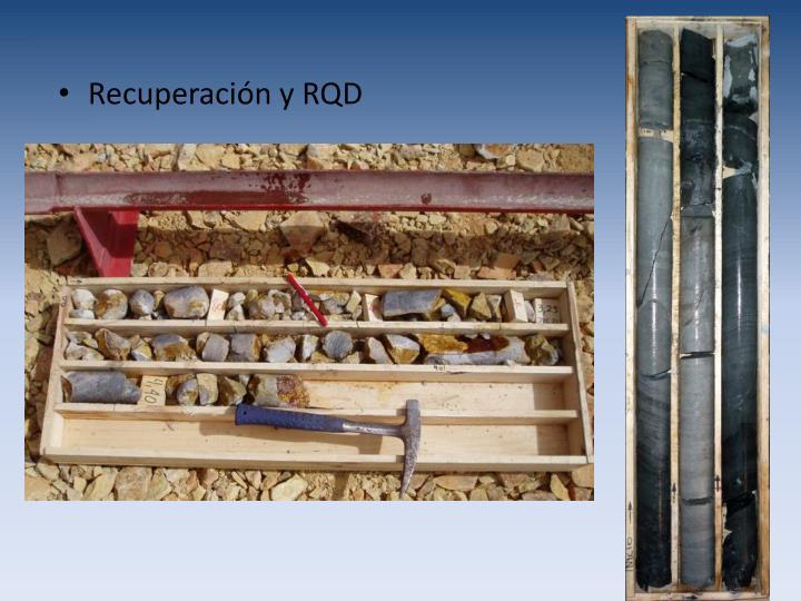 Recuperación y RQD