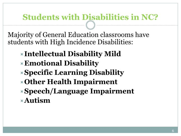 Students with Disabilities in NC?