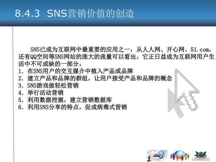 8.4.3  SNS