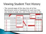 viewing student test history1