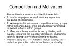 competition and motivation