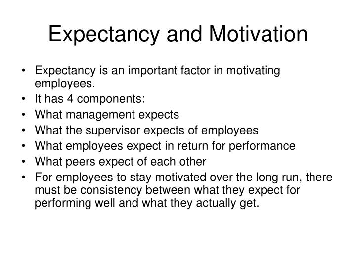 Expectancy and Motivation