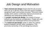 job design and motivation