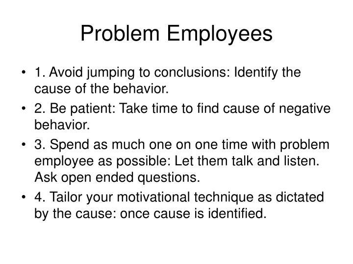 Problem Employees
