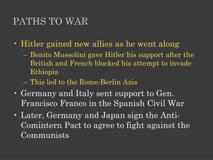 paths to war new essays