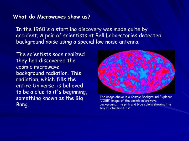What do Microwaves show us?