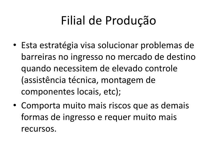 Filial de Produção