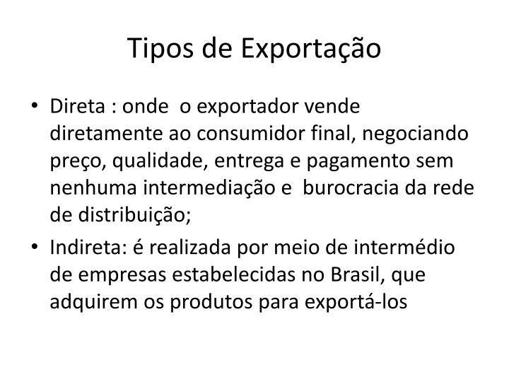 Tipos de Exportação
