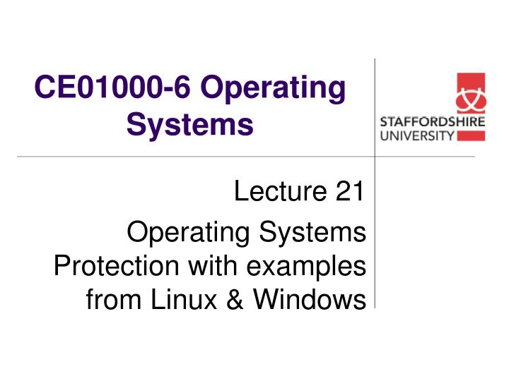 Ce01000 6 operating systems