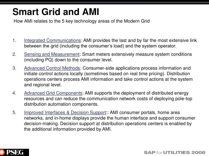 Smart Grid and AMI