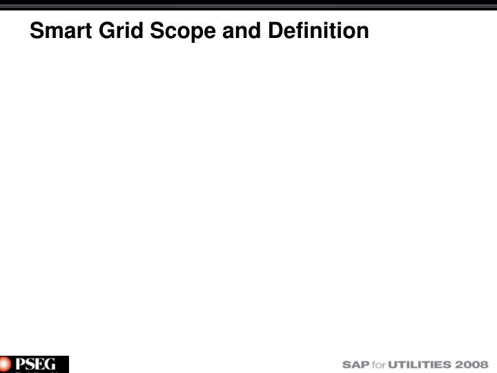 Smart grid scope and definition
