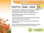 voitto 2008 2009