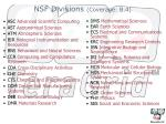 nsf divisions coverage b 4