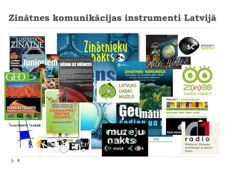 Zinātnes komunikācijas instrumenti Latvijā