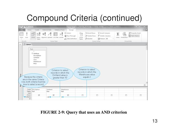 Compound Criteria (continued)