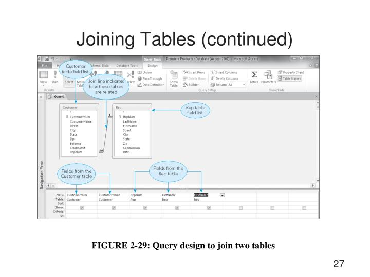 Joining Tables (continued)