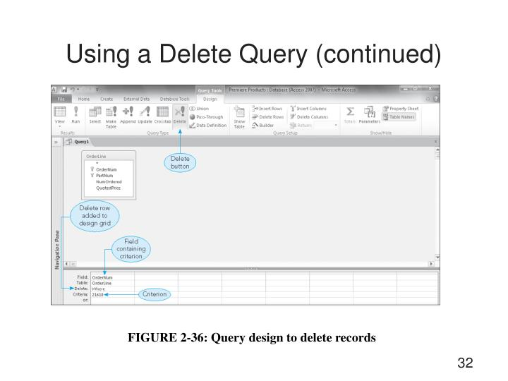 Using a Delete Query (continued)