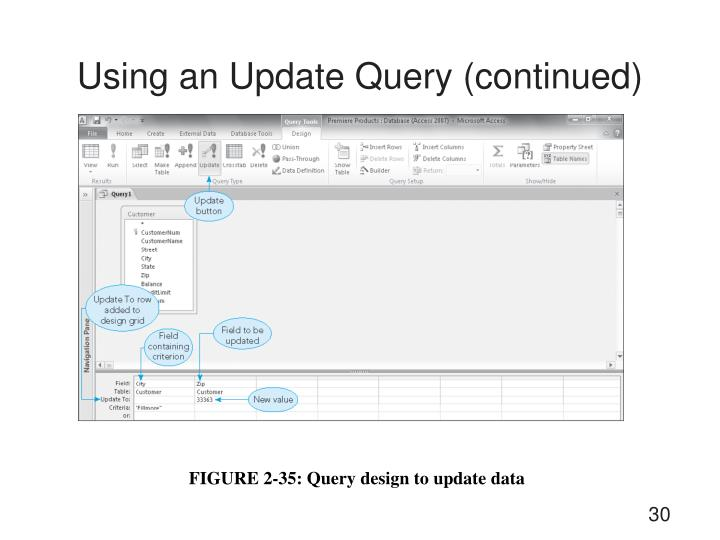 Using an Update Query (continued)
