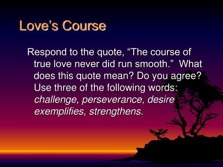 Love's Course