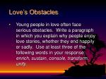 love s obstacles