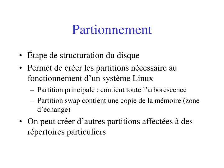Partionnement