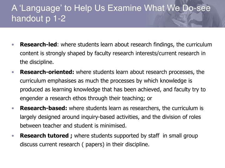 Research-led