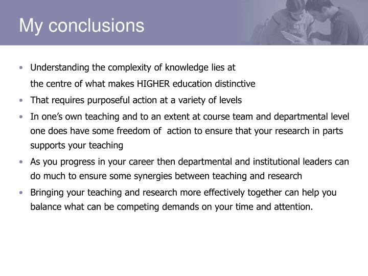 Understanding the complexity of knowledge lies at