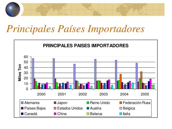 Principales Países Importadores