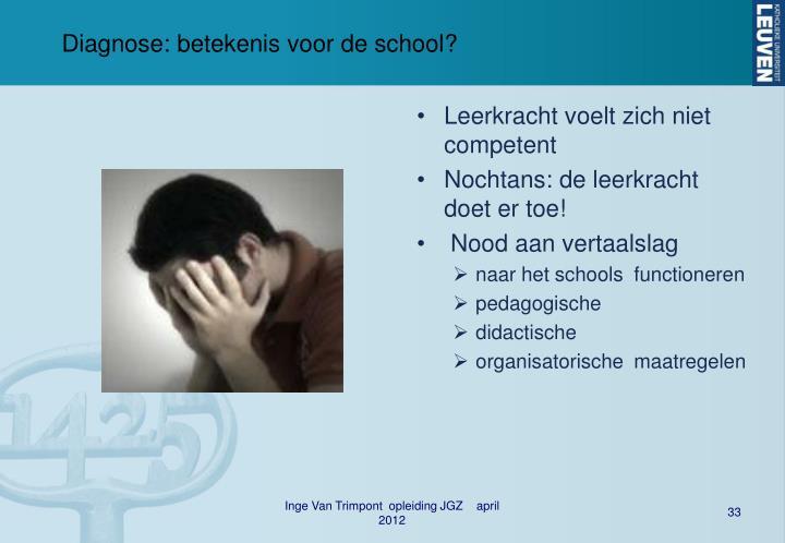 Diagnose: betekenis voor de school?
