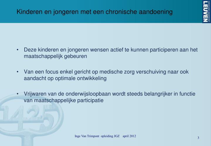 Kinderen en jongeren met een chronische aandoening