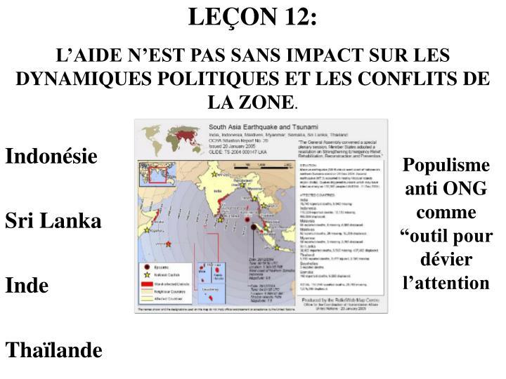 LEÇON 12: