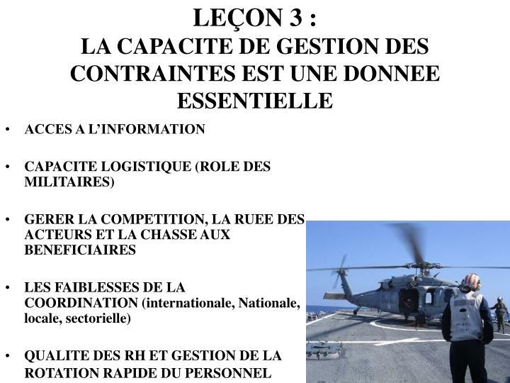 LEÇON 3 :