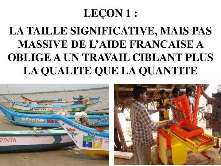 LEÇON 1 :