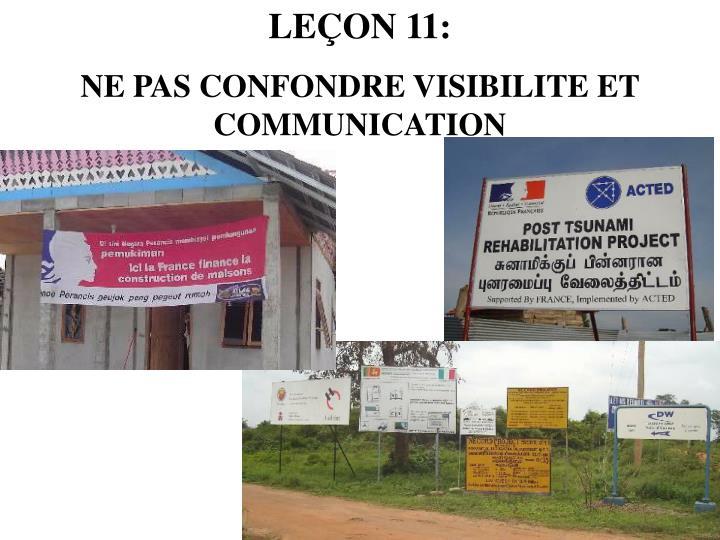 LEÇON 11: