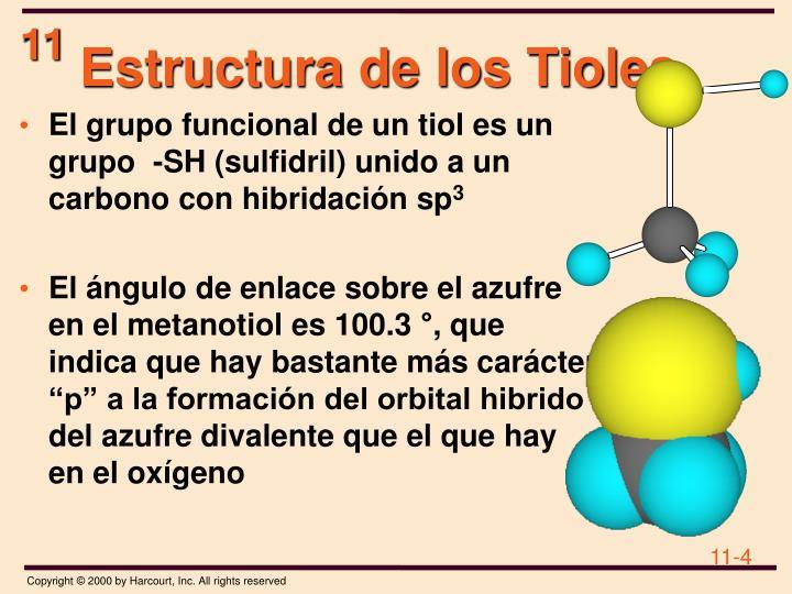 Estructura de los Tioles