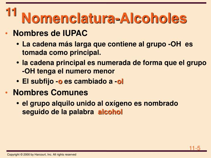 Nomenclatura-Alcoholes