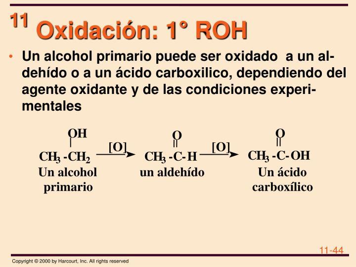 Oxidación: 1° ROH