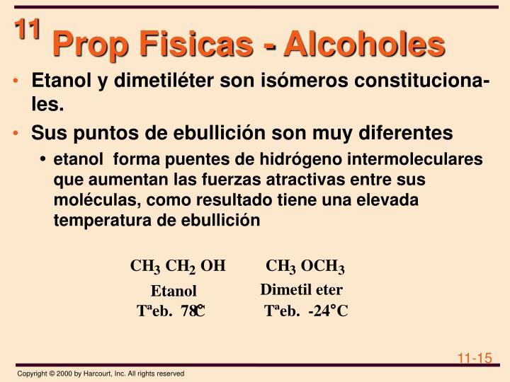 Prop Fisicas - Alcoholes