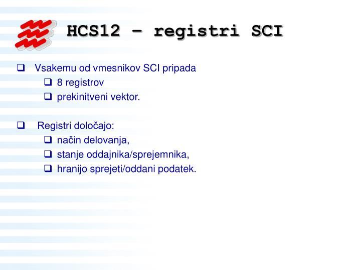 HCS12 – registri SCI
