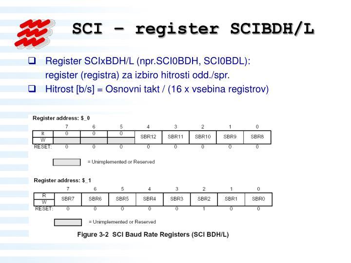 SCI – register SCIBDH/L