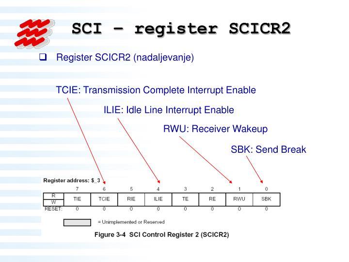 SCI – register SCICR2