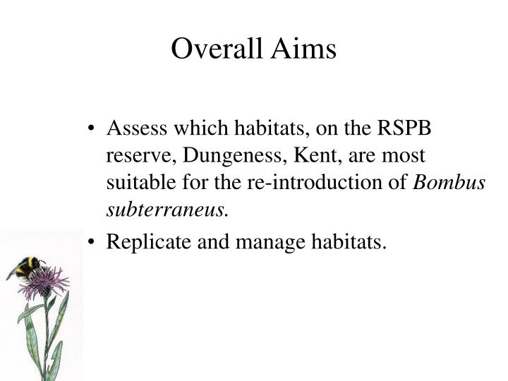 Overall Aims