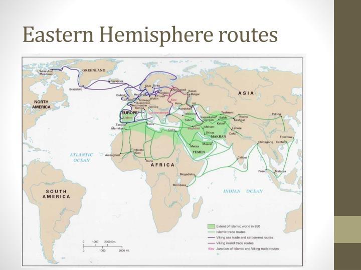 Eastern Hemisphere routes