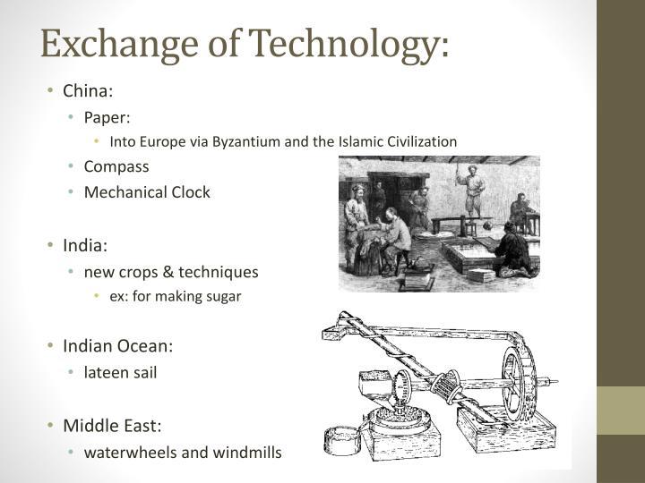 Exchange of Technology: