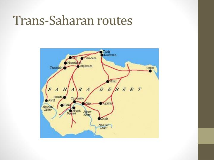 Trans-Saharan routes