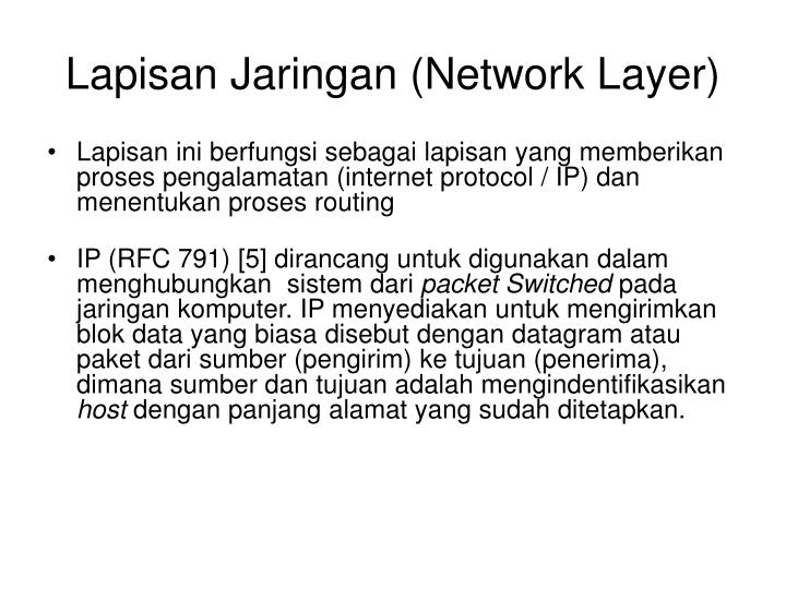 Lapisan Jaringan (Network Layer)