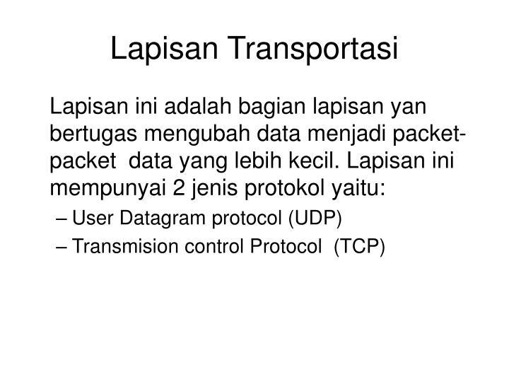 Lapisan Transportasi