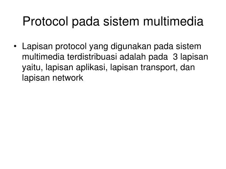 Protocol pada sistem multimedia
